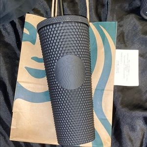 Starbucks matte black studded cold cup tumbler